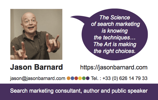 Jason Barnard Business Card