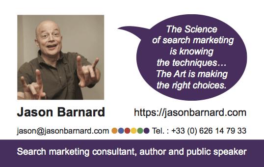 Jason Barnard Business Card