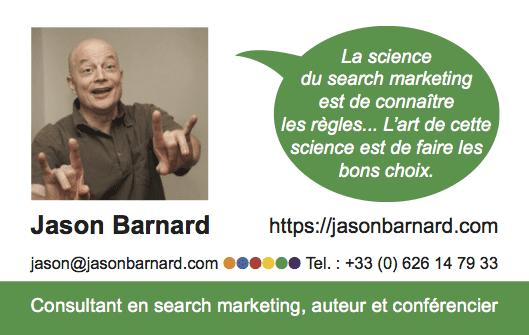 Carte de Visite Jason BARNARD