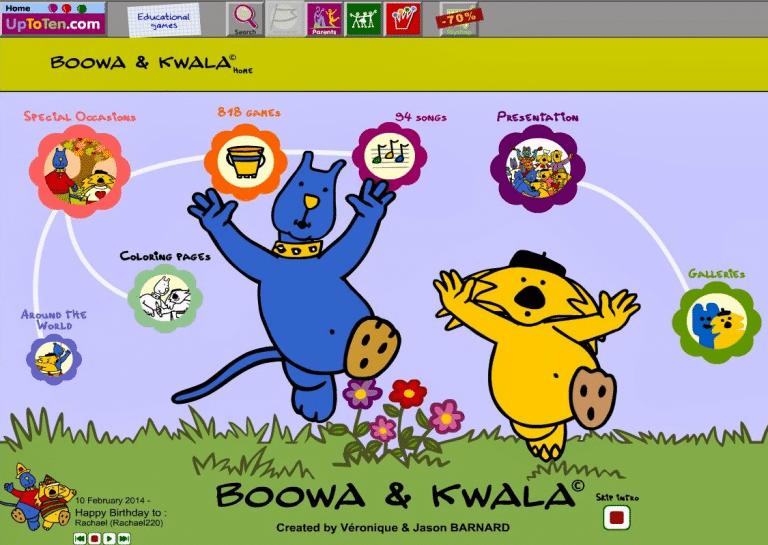 Boowa & Kwala website circa 2007