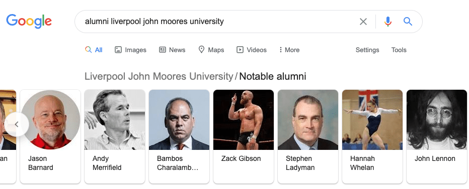 Alumni Liverpool John Moores University