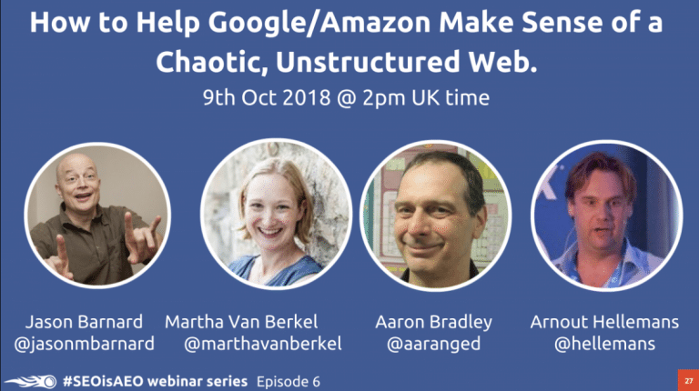 Episode 6: How to Help Google/Amazon Make Sense of a Chaotic, Unstructured Web