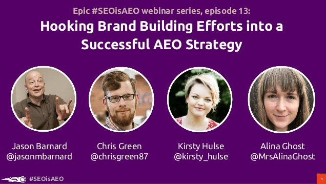 #SEOisAEO: Hooking Brand Building Efforts into a Successful AEO Strategy
