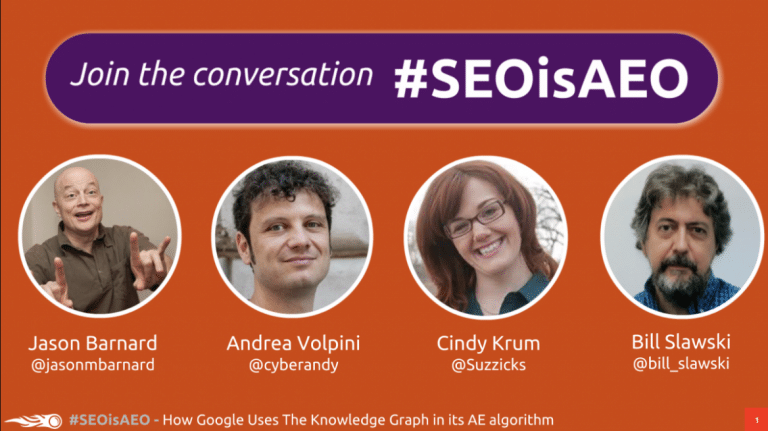 #SEOisAEO: How Google Uses The Knowledge Graph in its AE algorithm
